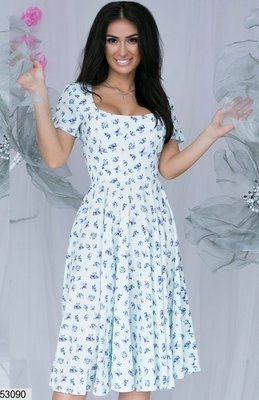 Легкое летнее платье с цветочными мотивами ткань мягкий софт скл.1 арт.53090