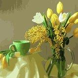 Картина по номерам. Brashme Желтые тюльпаны GX9245