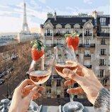 Картина по номерам. Brashme Бокалы Парижа GX24907.
