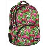 Рюкзак St.Right Flamingo Pink & Green, рюкзак з малюнком фламінго