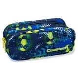 Пенал Coolpack Clever Football Blue ,пенал с рисунком футбольный мяч