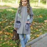 детское пальто короткое, пальто кашемир подросток много цветов