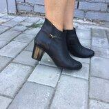 Женские кожаные демисезонные ботинки ботильоны
