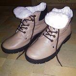 Ботинки кожаные, р.40, зима