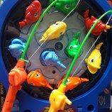 Рыбалка музыкальная с удочками на батарейках