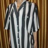 Стильная Вискозная фирменная блуза-рубашка 18 размер
