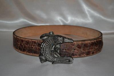 крутой кожаный ремень amapola с крокодилом