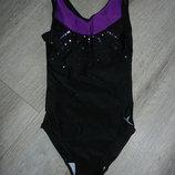 Domyos,Франция черный купальник спортивный,для танцев, для спорта 140 см