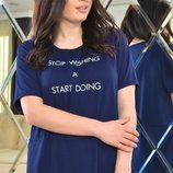 Стильная женская футболка из мягкой ткани вискозы Турция скл.1 арт.53105