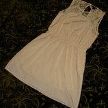 Кремовое лёгкое платье h&m