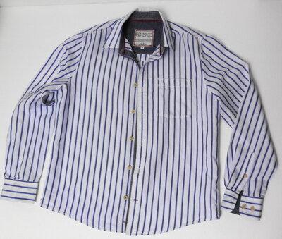 Fat. Face. Английская полосатая рубашка с длинным рукавом в стиле кэжуал. 44 ворот.