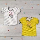 Блузочка кофточка футболка летняя на девочку нарядная для девочки блуза