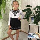 Белая школьная блуза кофточка на девочку школьная