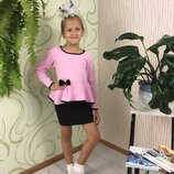 Школьная блуза на девочку нежно розовая блузка