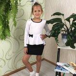 Блуза белая школьная нарядная на девочку