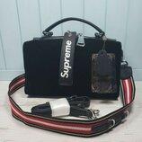 0ccb9863f497 женская замшевая кожаная сумка Polina & Eiterou черная жіноча шкіряна  замшева сумка чорна