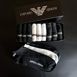 Набор 9 шт. Носки мужские Armani в подарочной коробке.