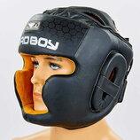 Шлем боксерский с полной защитой кожаный Bad Boy 6621 размер М-Xl