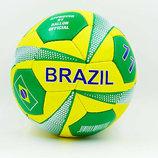 Мяч футбольный 5 гриппи Brazil 0047-751 PVC, сшит вручную