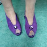 Туфли закрытые фиолетовые натуральный замш
