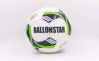 Мяч футбольный 5 Ballonstar 5413-1 PU, сшит вручную