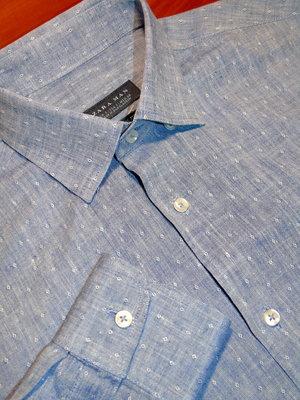ZARA Шикарная рубашка в принт - Лён - M - S