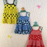 Трикотажный сарафан платье для девочки
