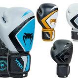Перчатки боксерские кожаные на липучке Venum Contender 8202 10-12 унций 5 цветов