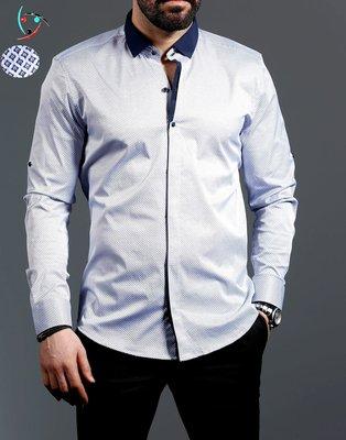 Рубашка мужская длинный рукав Турция 01-16-727