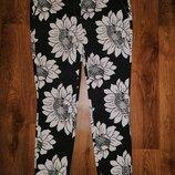 Стильные укороченные женские брюки 7 8, штаны, капри в цветочный принт next
