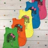 Летний трикотажный сарафан платье для девочки летнее Кудряшка