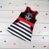 Сарафан на девочку Морской трикотажное платье для девочки рост 86-122