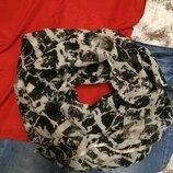 Фирменный яркий шарф H&M,обьемный шарфик подарок ремешок