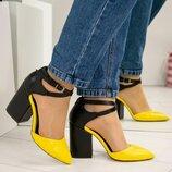 Туфли открытые с перекрестными ремешками