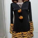 Карнавальное новогоднее платье тигрицы 34размер konfetti modelle