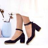 Туфли, натуральная замша, тёмно - фиолетовые