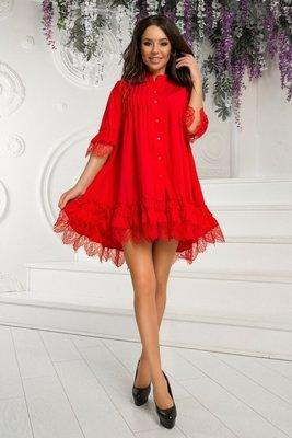 b0b0980c20facc1 Платье софт с кружевом: 390 грн - женские вечерние платья в ...