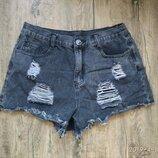 джинсовые шорты на талии