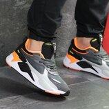 Кроссовки мужские Puma RS - X gray/orange