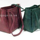 Вместительная красивая сумочка кожа K00044-4