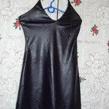 Платье-Сарафан сливового цвета р.s.греция.,кож-зам.