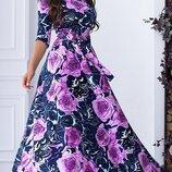 Платье Размеры 42 , 44 , 46 , Ткань трикотаж Описание ткани французский т
