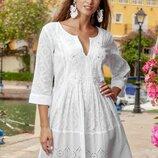 Пляжная туника платье с хлопка Fresh Cotton 1363 INDIANO в наличии