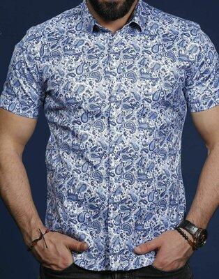 Рубашка мужская короткий рукав Турция 01-65-691