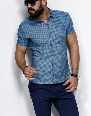 Рубашка мужская короткий рукав Турция 20-06-711