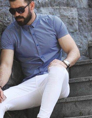 Рубашка мужская короткий рукав Турция 23-65-709