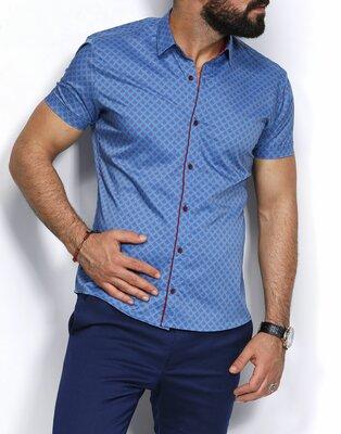 Рубашка мужская короткий рукав Турция 25-06-706
