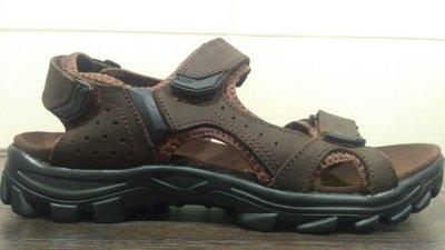 Босоножки сандалии мужские кожаные RESTIME nml19111 чёрные светло и темно коричневые