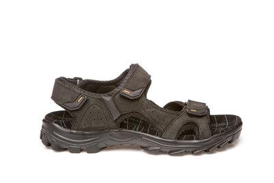 Босоножки сандалии мужские кожаные restime nwl19111 black