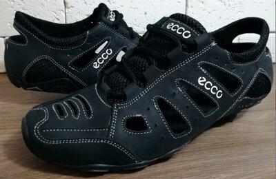 Мужские легкие летние кроссовки мокасины ECCO черные размеры 40, 41, 42, 43, 44, 45